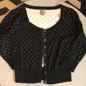 Black polka dotted cardigan